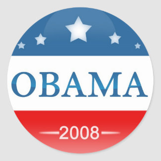 Democrat Barack Obama 2008 Round Sticker