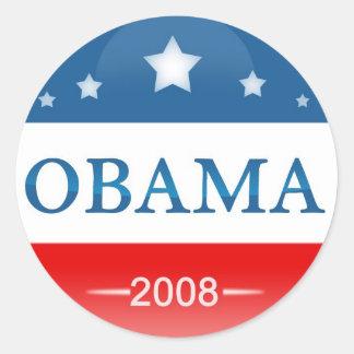 Democrat Barack Obama 2008 Round Sticker