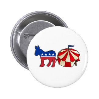 Democrat Circus Donkey Buttons