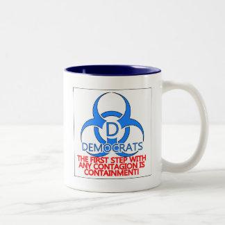 Democrat Containment Two-Tone Coffee Mug