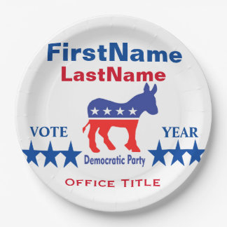 Democrat Custom Campaign Template Paper Plate