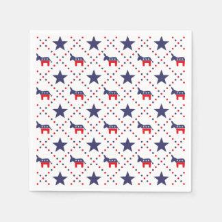 Democrat Diamond Pattern Disposable Napkins