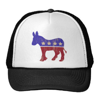 Democrat Donkey 2012 (Vintage) Mesh Hats