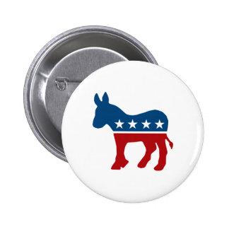 Democrat Donkey 2 Inch Round Button