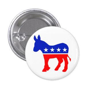 Democrat Donkey Logo 1 Inch Round Button