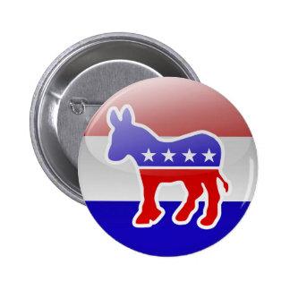 Democrat Donkey Logo 2 Inch Round Button