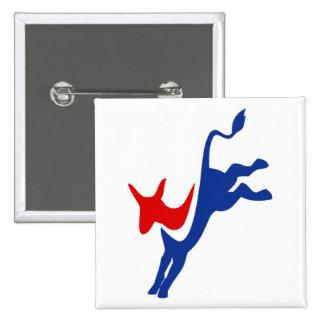 Democrat Donkey Logo 2 Inch Square Button