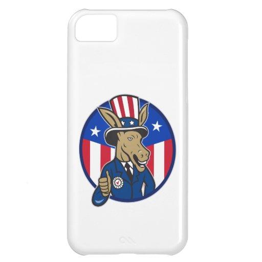 Democrat Donkey Mascot Thumbs Up Flag iPhone 5C Case