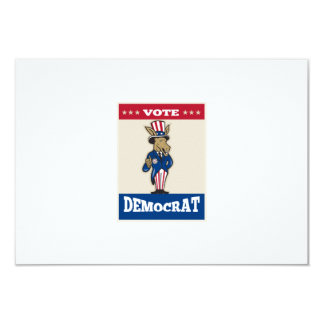 "Democrat Donkey Mascot Thumbs Up Flag 3.5"" X 5"" Invitation Card"