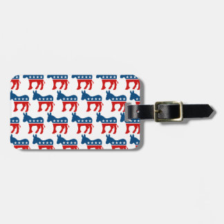 DEMOCRAT DONKEY PATTERN.png Luggage Tag