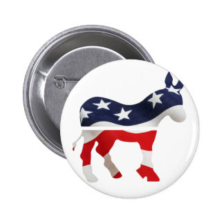 Democrat Donkey with USA Flag Superimposed Buttons