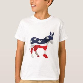 Democrat Donkey with USA Flag Superimposed Tshirts