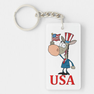democrat donkey with usa keychain