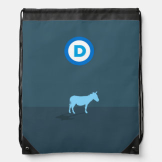 Democrat Drawstring Backpack