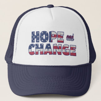 Democrat Hope and ChangeAmerican Flag Baseball Cap