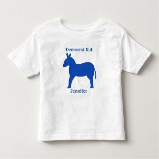 Democrat Kid Blue Donkey Name Personalized Tshirt