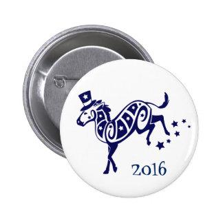 Democrat Left Election Donkey Tribal 2016 2 Inch Round Button