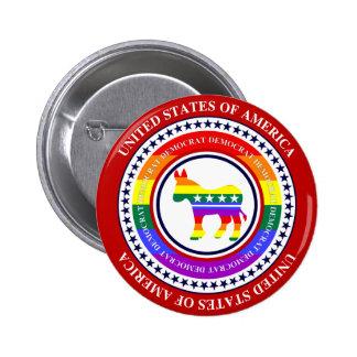 Democrat LGBT Button