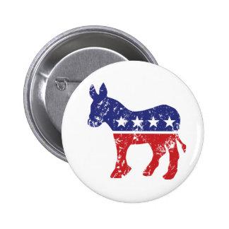 Democrat Original Donkey Distressed Buttons