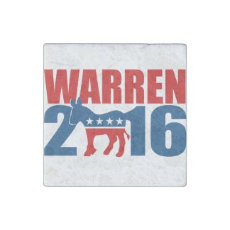 DEMOCRAT WARREN 2016 STONE MAGNETS