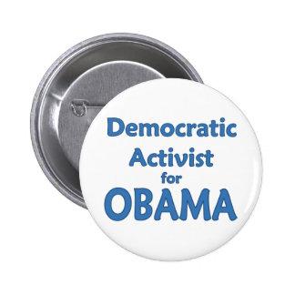 Democratic Activist for Obama 2 Inch Round Button