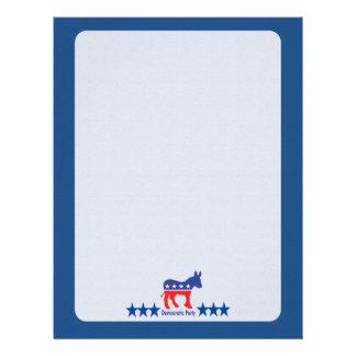 Democratic Blank Campaign Template Letterhead