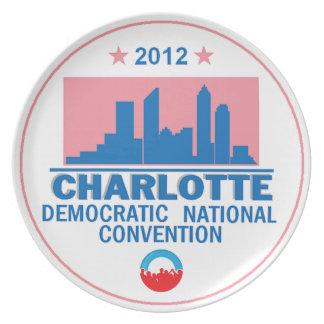 Democratic Convention Party Plates