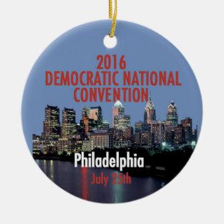 Democratic Convention Round Ceramic Ornament