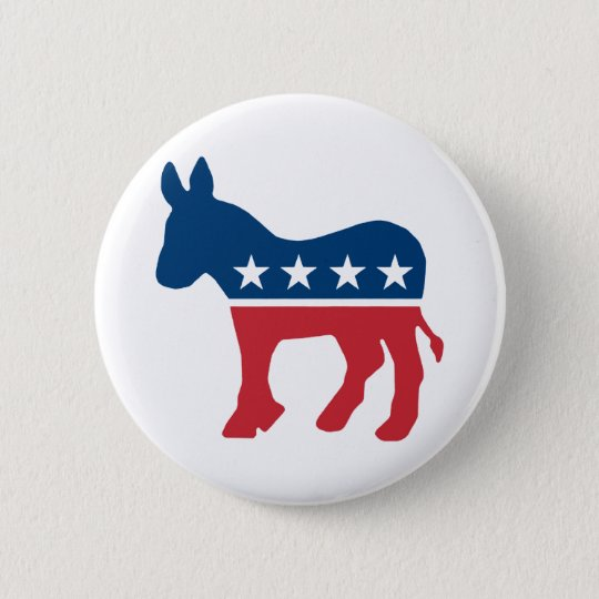 Democratic Donkey 2 Inch Round Button