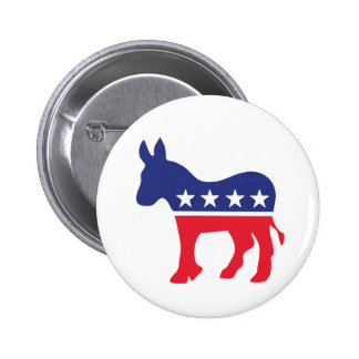 Democratic Donkey American Politics 2 Inch Round Button