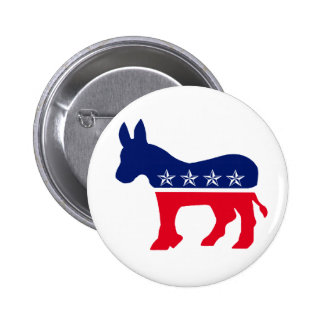 Democratic Donkey Pinback Buttons