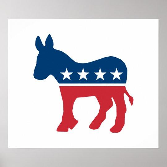Democratic Donkey Poster