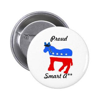 Democratic Election Button
