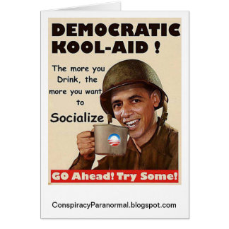 Democratic Kool-Aid Political Greeting Card