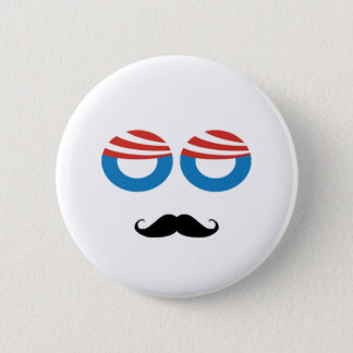 Democratic Man - Mustache You A Question 2 Inch Round Button