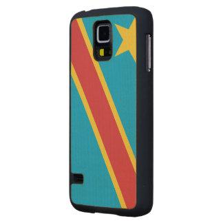 Democratic Republic of Congo Flag Maple Galaxy S5 Slim Case