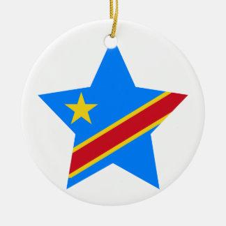 Democratic+Republic+of+Congo Star Ceramic Ornament