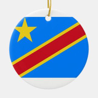 Democratic Republic of the Congo World Flag Ceramic Ornament