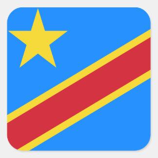 Democratic Republic of the Congo World Flag Square Sticker
