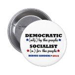 Democratic Socialist Bernie Sanders 2 Inch Round Button
