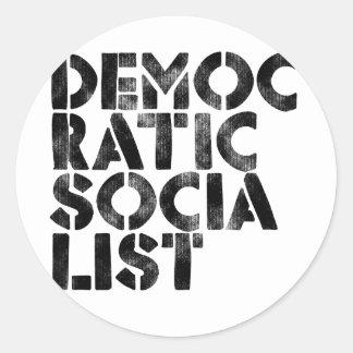 Democratic Socialist Classic Round Sticker