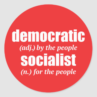 Democratic Socialist Definition Sticker