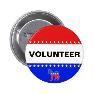 Democratic Volunteer 2 Inch Round Button