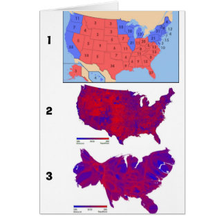 Democratic Vote Maps Card
