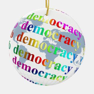 Démocratie globale ornement rond en céramique