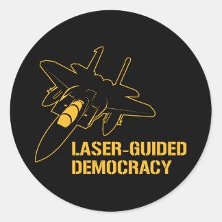 Démocratie/paix à guidage laser par la puissance adhésif rond