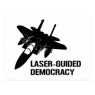 Démocratie/paix à guidage laser par la puissance carte postale