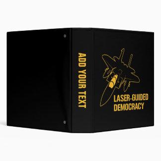 Démocratie/paix à guidage laser par la puissance classeurs vinyle