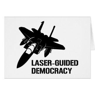 Démocratie/paix à guidage laser par la puissance d carte de vœux