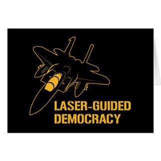 Démocratie paix à guidage laser par la puissance d cartes de vœux